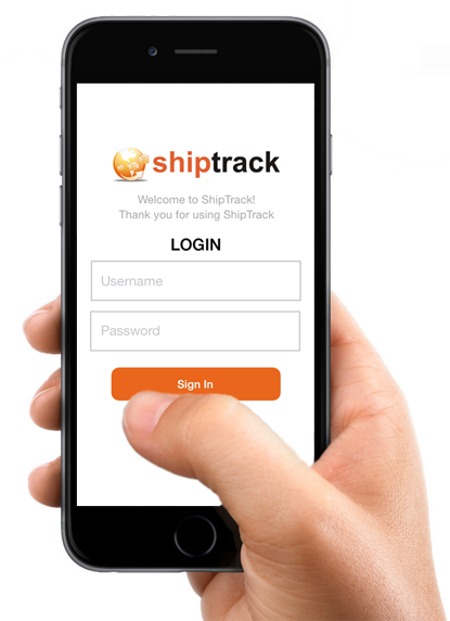 Track and Trace Shiptrack App