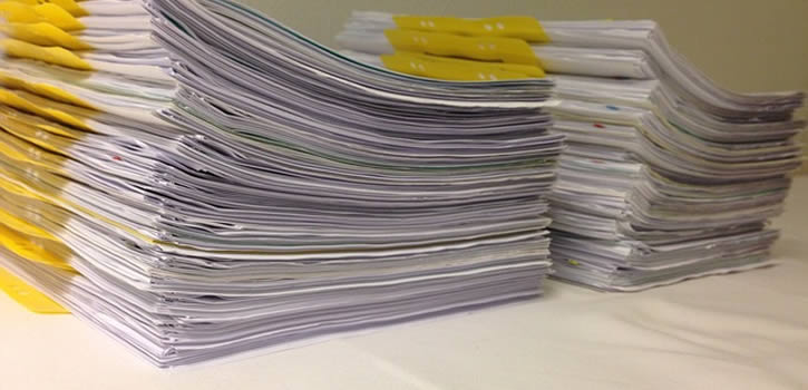Waybill Tracking Papers pile up